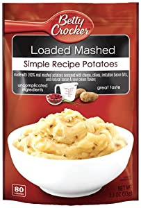 Betty Crocker Loaded Mashed 100% Real Potatoes, 3.3-Ounce Packages (Pack of 8)