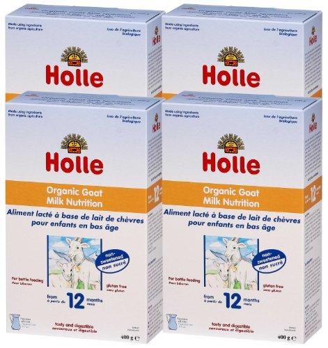 Holle Organic Baby Milks - Goats Milk Formula - Multi-pack, 4 x 400g