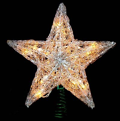 12″ Lighted Snowy Crystal Style Star Christmas