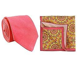 Chokore Fuschia Silk Tie & Pocket Square set