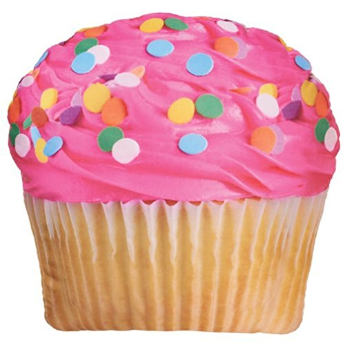 Great Features Of iscream Sweet Treats Pink Icing Cupcake Microbead Pillow