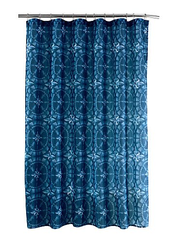 LBLI Tranditional Tie Dye Pattern Rectangle Shower Curtains  71x72inch,71x79inch , W71