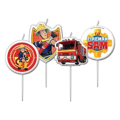 Amscan International Fireman Sam Mini Pick Candles by Amscan