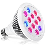 LED Grow Light,Oak Leaf 24W Plant Bulb High Efficient LED Grow Lights Growing and Flowering Lighting for Indoor Garden and Hydroponic Plants
