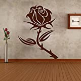 Decal Style Style Rose Flower Sticker Tiny-13*20 Inch Color - Brown
