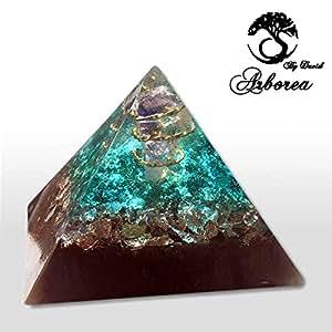 Best emf protection jewelry tourmaline orgone pendant necklace amazon com big orgone pyramid ocean world reiki infused aloadofball Images