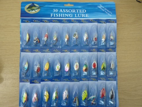 set of 30 lures fishing spinners
