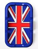 (F's factory) BMW MINI ミニ クーパー ノンスリップ マット 仕様 小物 入れ スマホ 携帯 スタンド にも 英国旗 ユニオンジャック (ブルー)