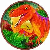 Prehistoric Dinosaurs Metallic Dessert Plates 8ct