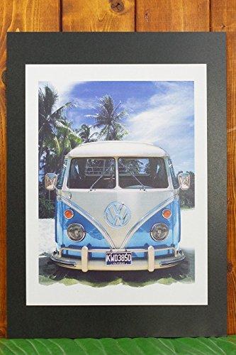 【ハワイ雑貨】ハワイアンポスター(ワーゲンバス-KWD385D)