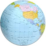 14-inch Plastic Globe Beach Ball Trade Show Giveaway