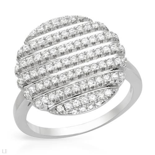 Sterling Silver 1 CTW Cubic Zirconia Ladies Ring. Ring Size 7.5. Total Item weight 3.9 g.
