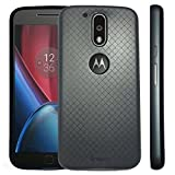 Original iPaky Brand Luxury High Quality Soft Silicon Back Cover + PC Bumper Frame Shockproof Back Cover for Motorola Moto G4 Plus/ Moto G4 (4th Gen) ( Black Back + Grey Bumper)