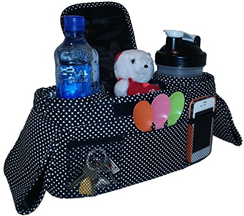 Baby Stroller Organizer | Deluxe Diaper Bag | Stroller Cup Holder | Adjustable Fits Most Full Size Strollers