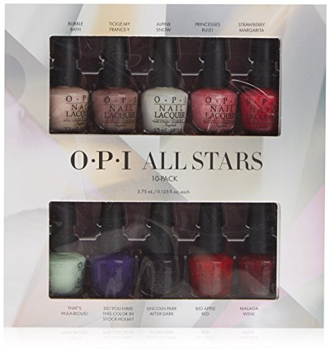 OPI Smalto per Unghie Mini Kit, All Stars Master Kit, 10 x 3.75 ml