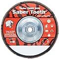 Weiler Saber Tooth Abrasive Flap Disc, Type 29, Threaded Hole, Phenolic Backing, Ceramic Aluminum Oxide