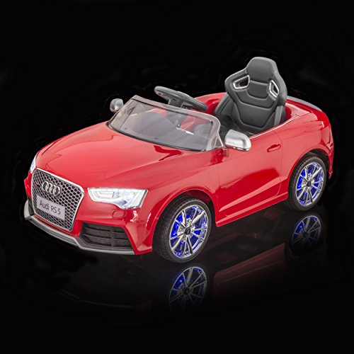 sportrax licensed audi rs5 kids ride on car battery powered remote control wfree mp3 player red little kid cars
