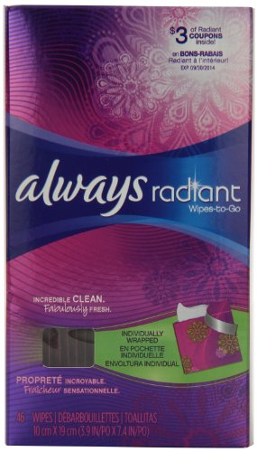 Always Radiant Wipes-To-Go 46 Count