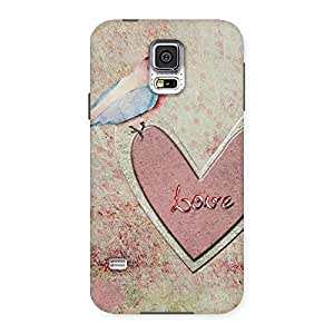 Bird Drawing Heart Back Case Cover for Samsung Galaxy S5
