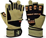 Weightlifting Gloves for Crossfit Workout Training - Fitness Gym Gloves for Men or Women - Best Bodybuilding Gloves for Heavy Weight Lifting Exercise Integrated W. Full Wrist Support Wraps - Enhance Your Grip and Eliminate Blisters & Calluses - 1 Year Replacement Warranty (Soldier, X-Large)