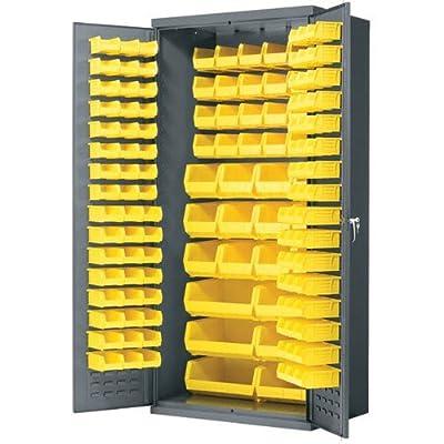"Akro-Mils AC3624Y Cabinet 36"" x 24"" x 78"" with 138 Yellow Bins"