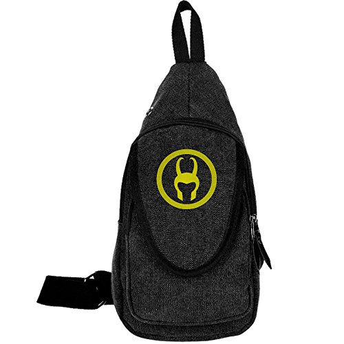 SuperWW Loki Helmet Canvas Chest Backpack Bag (Loki Helmet For Sale)