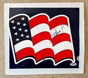 Dale Earnhardt Jr NATIONAL GUARD Signed Race Used Sheetmetal COA #6 - PSA DNA... by Sports Memorabilia