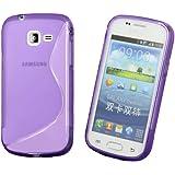 Étui Coque Souple en Silicone Samsung S7390 Galaxy Trend Lite incl. protecteur d'écran S-Line Viola / Lilas