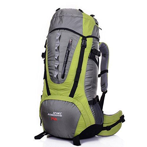 Grand sac de capacité / sac à dos de sport de plein air / sac d'alpinisme / sac à dos de randonnée-vert 70L