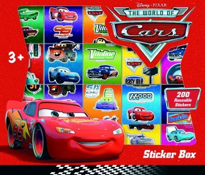 Disney Pixar Cars 200 Reusable Stickers Set