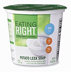 Eating Right Potato Leek Soup, 1.3 Ounce Cup (Pack of 12)