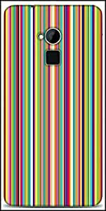Snoogg Super Lining Pattern 2538 Designer Protective Back Case Cover For HTC One-Max