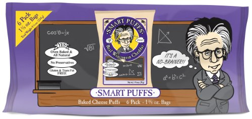 Smart Puffs Multi Pack, Wisconsin Cheddar, 1-Ounce Bags (Pack of 72)