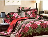 lee marc Bedroom Linen Cotton Double Bedsheets With 2 Pillow Covers