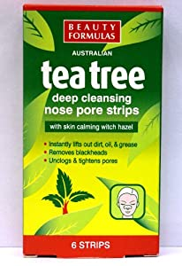 Beauty Formulas Tea Tree Nose Strips 6's