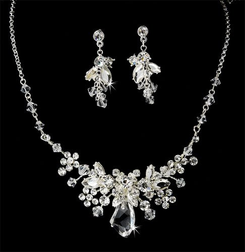 Crystal Bridal Jewelry, Necklace &#038; Earring Set 622
