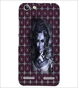 PrintDhaba Pattern Girl D-5649 Back Case Cover for LENOVO A6020a46 (Multi-Coloured)