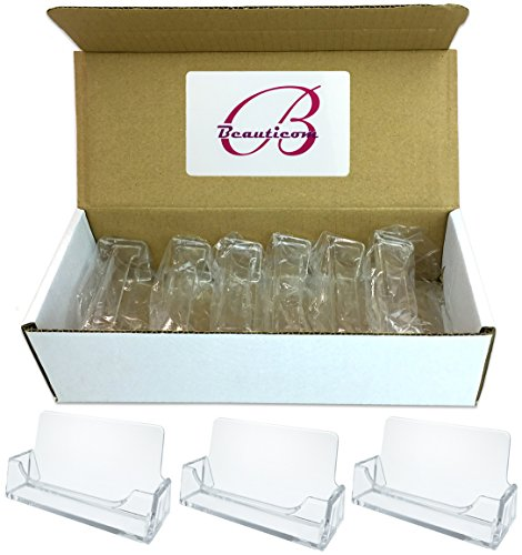 Beauticom 6 Pieces - Clear Plastic Business Card Holder Display Desktop Countertop (Style # 3) (Countertop Desk compare prices)