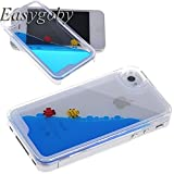 Easygoby Creative Design 3D Fantastic Free Flowing Liquid Swimming Fish Hard Case for Apple iPhone 4 4S (Blue)... by Easygoby