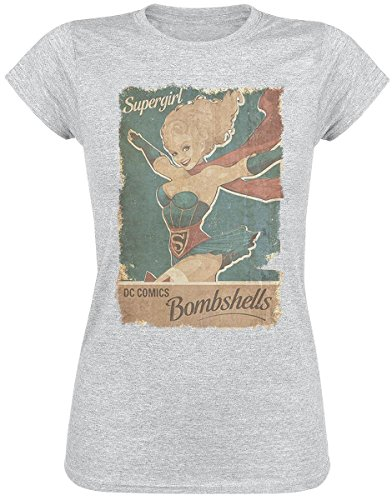 Supergirl Bombshells Maglia donna grigio XXL