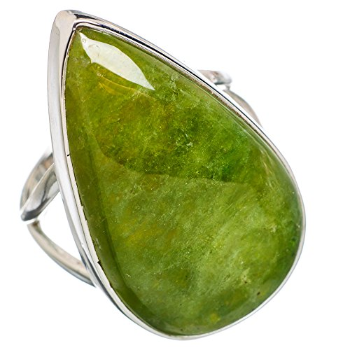 Ana Silver Co Large Chrysoprase 925 Sterling Silver Ring Size 9