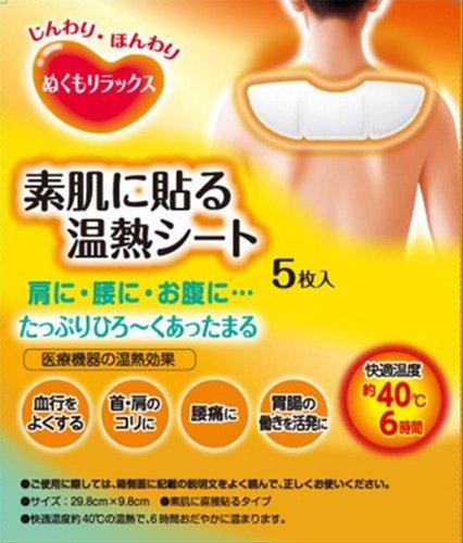 ぬくもりラックス素肌に貼る温熱シート 5P