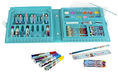 ColorBaby - Maletín con rotuladores, ceras y lápices para pintar, diseño Frozen (76706)