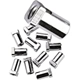 Pearl S61/12 Swivel Nut, M5.8 Nickel Plated Brass, 12 pack