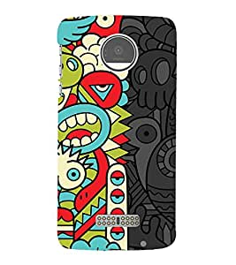 animated abstract pattern 3D Hard Polycarbonate Designer Back Case Cover for Motorola Moto Z::Motorola Moto Z Droid