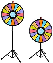 Yescom Editable 24 Inch 16 Segment Color Prize Wheel Fortune Spin Game Carnival Floor Stand by Yesco