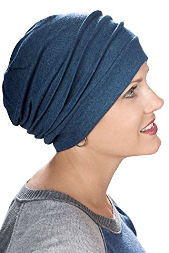 Accessories Unlimited Knitting Supplies : Slouchy cotton knit snood cap for cancer chemotherapy