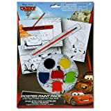 Disney Cars Paint Your Own Poster Kit - 10 Piece Set with Posters, Paints and Brush for Art Fun