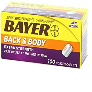 Bayer 81mg Enteric Low Dose Pain Relief Aspirin Tablets ...