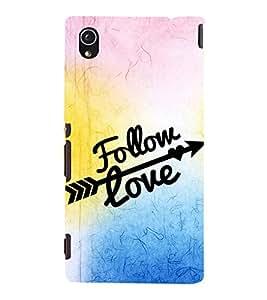 EPICCASE follow your love Mobile Back Case Cover For Sony Xperia M4 Aqua Dual (Designer Case)
